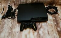 Sony Playstation 3 PS3 Slim 320GB 3001B Console Controller & 2 Games *Tested*