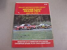 HALLETT MOTOR RACING CIRCUIT MOTHERS DAY GRAND PRIX MAY 13,1979 PROGRAM
