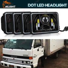 Black 4PCS 4x6'' LED Headlight Hi/Lo Beam Fit Forward Isuzu NPR-HD NQR GMC W3500