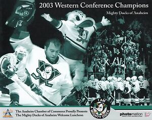 """Mighty Ducks Of Anaheim 2003 Western Conference Champions Team 8""""x10"""" Photo"""