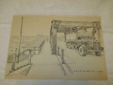 um 1939 Organisation Todt - O.T. Auto überquert Brücke im Elsaß ( Lastwagen )