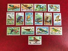 ST VINCENT GRENADINES 1974 MNH BIRDS OVERPRINT