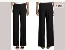 8bf1d21d557 Eileen Fisher Black Washable Stretch Crepe Wide Leg Ankle Pants 3x