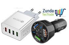 Premium USB Ladegerät Netzteil KFZ Auto Schnell Kabellos Wireless QC 3.0