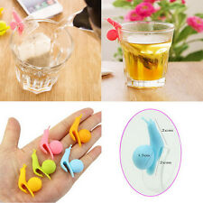 10x Snail Shape Tea Bag Holders Silicone Mug Kitchen Gift Candy Colours Funny