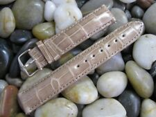 19 mm Tan Beige Alligator Watch Band Strap! USA Made Hadley Roma quick pins