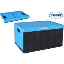 Caja plegable con tapa 46l Negro/azul / Tontarelli