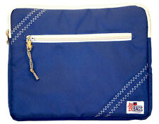 Water Resistant Blue Sailcloth Ipad Tablet handheld Cover Case Pouch
