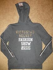 VICTORIA'S SECRET SUPERMODEL GRAY BLING NYC FASHION SHOW 2015 ZIP HOODIE NWT S