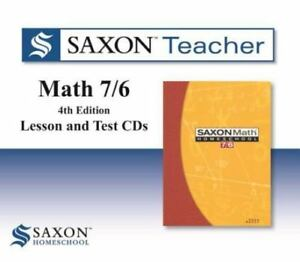 Saxon Math 7/6 4th Edition Homeschool Teacher Lesson & Test CDs Please See NOTES