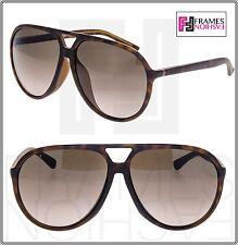 5c17629b87e GUCCI GG1094FS Aviator Brown Havana Translucent Sunglasses Special Fit 1090  1094