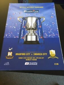Bradford City V Swansea City 2014 League Cup Final Soccer Programme
