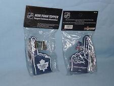 MINI FOAM TOPPER Toronto Maple Leafs  #1 FAN   SET of 2   by Rico   NIP