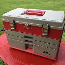 Plano 833 Usa made fishing tackle musky pike or Tool box Red and Gray color