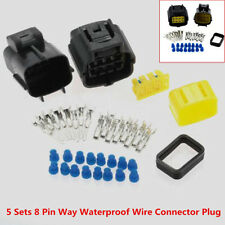 5 Sets 8 Pin Way Waterproof Wire Connector Plug Terminals Auto Sealed Electrical
