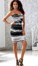 Boston Proper Strapless Bandeau Black White Sexy Pin Up Girl Dress NEW 4 XS $139