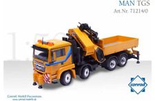 CONRAD 1:50 SCALE MAN TGS FLATBED AND PALFINGER JIB - PRANGL 71214/0