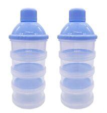 4 Layers Baby Formula-Milk Powder Dispenser Infant Food Storage Container-2Pcs