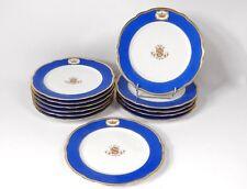 12 assiettes porcelaine Paris Gille Jeune couronne marquis Napoléon III 19è