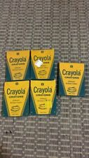 5 Original ( 5 Unused ) Vintage Boxed #8 Crayola Crayons