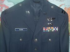 USAF AIR FORCE OFFICER DRESS BLUE UNIFORM W/ RIBBONS & RANK SIZE 38XS