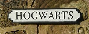 Hogwarts Antique Style Wall Mounted White Street Sign Plaque / Sign Harry Potter