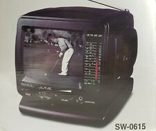 """5"""" Black & White Television with AM/FM Radio SW-0615 & TV Accessory Kit"""