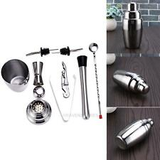 8x Stainless Steel Cocktail Shaker Mixer Drink Bartender Martini Bar Tools Set