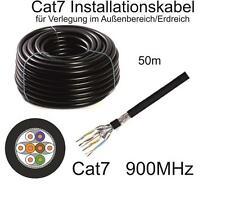 50m Draka CAT7 Datenkabel schwarz UC900 SS23 für Außenbereich/Erdverlegung