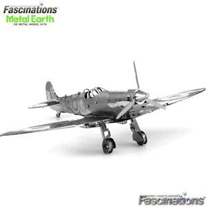 Metal Earth Supermarine Spitfire Fighter Plane DIY Model Building Kit Aircraft