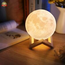 Full Moon Lamp 3D LED Night Modern Floor Lamp Dimmable Touch Control Brigntness