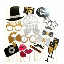 Photo Booth Props 2018 Happy New Year's Eve Christmas 2017 Decoration Mask Party