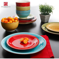 Better Homes Gardens Festival Dinnerware Assorted Colors Set of 12 New