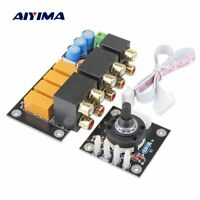 Aiyima RCA Audio Switch Input Selection Board Lotus Seat Stereo Relay 4-way