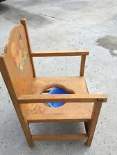 Baby Time Furniture vintage wooden potty training chair Rochelle Furniture Mfg C