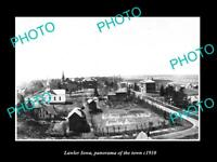 OLD LARGE HISTORIC PHOTO OF LAWLER IOWA, THE MAIN STREET & STORES c1910