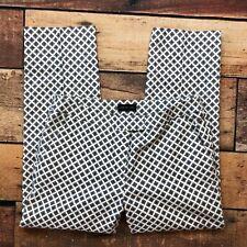Adrienne Vittadini Slim Ankle Dress Pants Size 4 Womens Geometric Cropped Capris