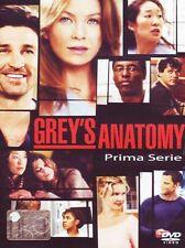 GREY'S ANATOMY - STAGIONE 1- 2 DVD - COFANETTO ITALIANO, NUOVO