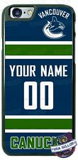VANCOUVER CANUCKS HOCKEY NAME/ # PHONE CASE COVER FOR iPHONE SAMSUNG LG GOOGLE