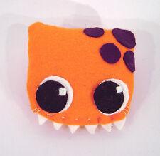 Monster Drache Darma orange Anstecker Brosche Geschenk Deko Handarbeit