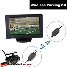 Auto Funk Einparkhilfe Rückfahrsystem 4,3 Zoll Monitor 2-LED Rückfahrkamera 12V