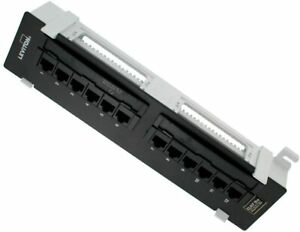 Leviton 5G596-U89 GigaMax 5E Universal 12-Port Patch Block, Cat 5E