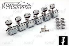 Wilkinson® deluxe WJ-55 machine heads Fender® vintage kluson style guitar chrome