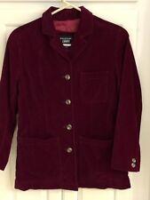 Emanuel  Ungaro Liberte Holiday Red Maroon Velvet Blazer Jacket, Size 2/36 EUC