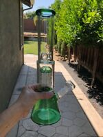 "Water Pipe Bong Hookah Glass 14""Rig Ten Arm Shower Head 14mm Bowl Ice Catcher"
