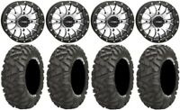 "System 3 ST-3 Machined 14"" Wheels 28"" BigHorn Tires Sportsman 550 850 1000"