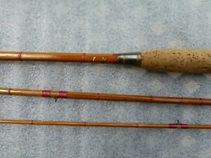 Rare English Vintage Milwards  Split Cane Fly Fishing Rod Circa 1920