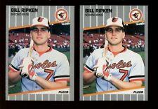 1989 Fleer Baseball Cards #616 Billy Ripken Rookie Two Different Variations NRMT