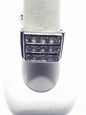 Crystal Rhinestones Sterling Silver Ring Size 7