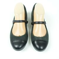 Cole Haan Grand OS Black Suede Leather Cap Toe Mary Jane Shoe Women's 11